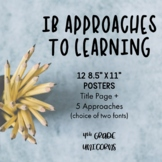 IB PYP Approaches to Learning + Skills Posters / Prints