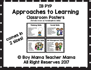 IB PYP Approaches to Learning (Transdisciplinary Skills) Posters