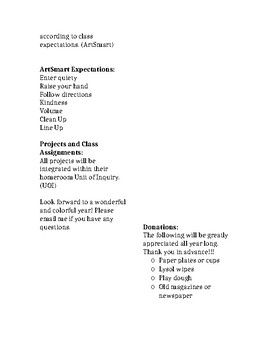 IB PYP Art Class Description