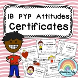 IB PYP Attitude Certificates