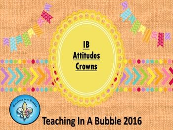 IB  PYP  Attitude Crowns