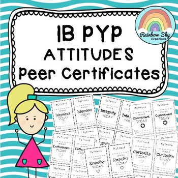 IB PYP Attitude Peer Certificates