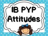 IB PYP - Attitudes - BLUE POLKA DOT