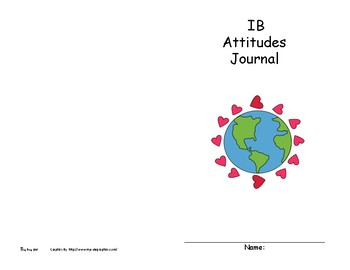 IB PYP Attitudes Booklet For Younger Grades