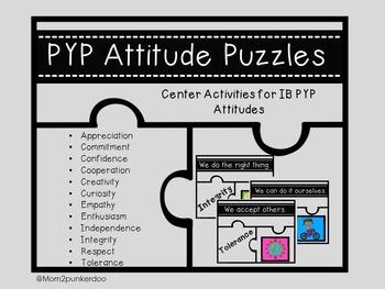 IB PYP Attitudes Center Activities