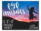 IB PYP Attitudes + Descriptors Posters / Prints