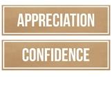 IB PYP Attitudes (Kraft Paper Design)