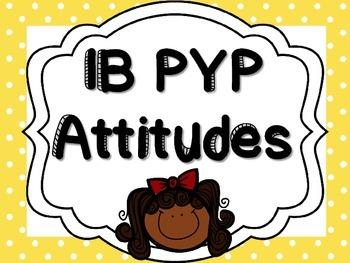 IB PYP Attitudes - MULTICOLOUR POLKA DOTS
