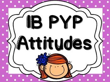 IB PYP Attitudes - PURPLE POLKA DOT