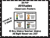 IB PYP Attitudes Poster