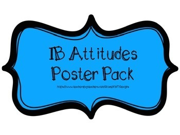 IB PYP Attitudes Poster Pack