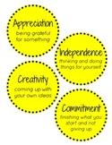 IB PYP Attitudes - Yellow Polka Dots