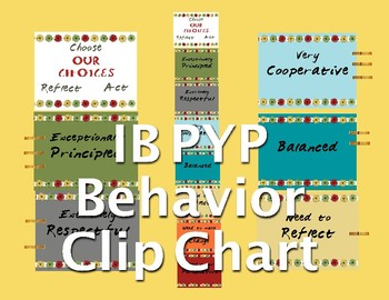 IB PYP Behavior Clip Chart