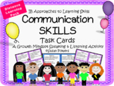 IB PYP Communication Skills Task Cards Activity for Growth Mindset