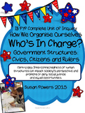 IB PYP Complete Unit of Government Structures: Civics, Citizens, Civil Rights