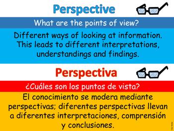 IB PYP Concepts Dual Language