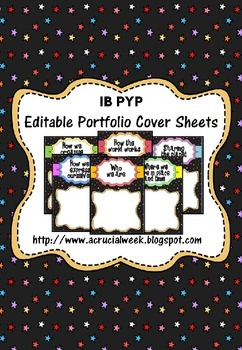 IB PYP Editable Portfolio Cover Sheets