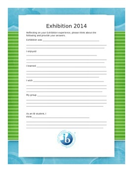 IB PYP Exhibition Reflection