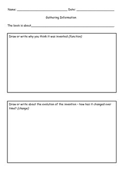 IB PYP Inventions Unit Resources