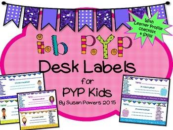 IB PYP Kids Desk Labels