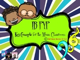 IB-PYP Key Concept Posters for Music