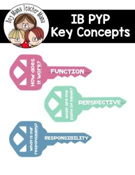 IB PYP  Key Concepts