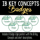 IB PYP Key Concepts Badge Posters • Leafy Green Theme