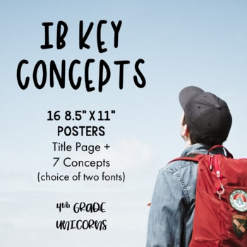 IB PYP Key Concepts Posters / Prints