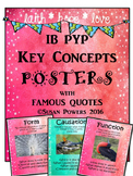 IB PYP Key Concepts Posters with Authors' Quotes