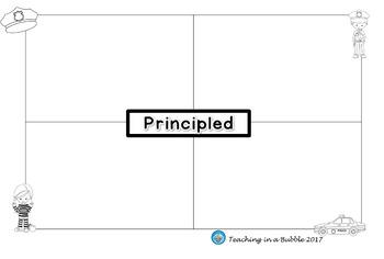 IB PYP Learner Profile, Attitudes & Key Concepts Graphic Organizers