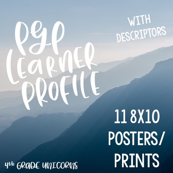 IB PYP Learner Profile + Descriptors Posters / Prints