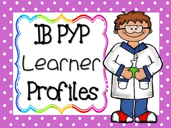 IB PYP Learner Profile - PURPLE POLKA DOT