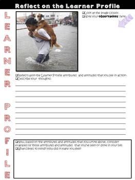 IB PYP Learner Profile Reflection Journal for Big Kids