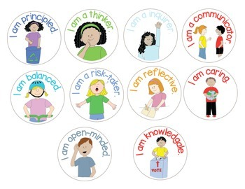 IB PYP Learner Profile Stickers