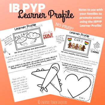 IB PYP Learner Profile Reflection Note **NO PREP**