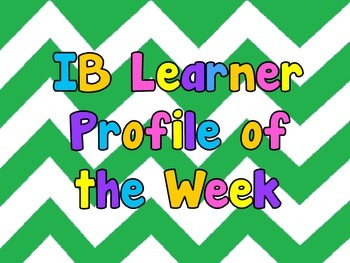 IB PYP Learner Profile Trait of the Week