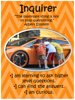 IB PYP Learner Profile and Attitudes Posters with Authors' Quotes