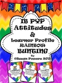 IB PYP Learner Profile and Attitudes Rainbow Bunting Display