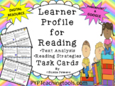 IB PYP Learner Profile for Literacy Task Cards with Distan