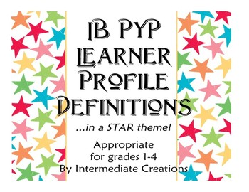IB PYP Learner Profile in Star Theme