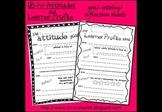 IB PYP Learner profile and attitudes goal setting / reflec