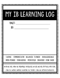 IB PYP Learning Log/Learning Journal