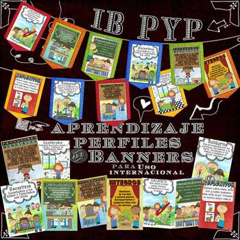 IB PYP Learning Profile Posters & Banners in Spanish for A4 Paper