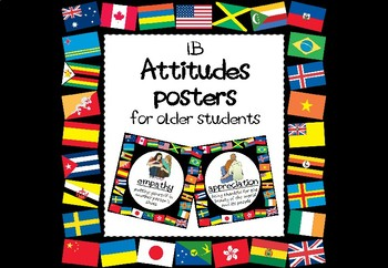 IB PYP/MYP Attitudes Posters for Older Students