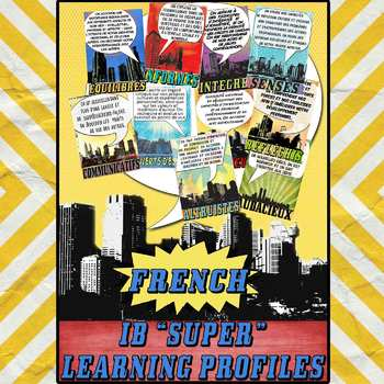 IB PYP & MYP Learner Profile SUPER Posters in French for US Paper