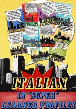 IB PYP & MYP Learner Profile SUPER Posters in Italian for