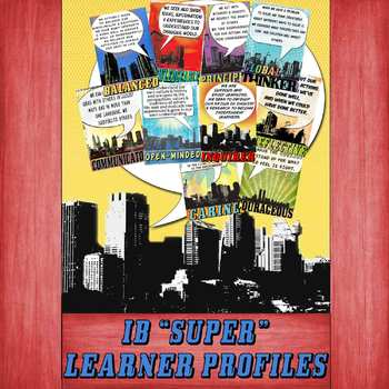 IB PYP & MYP Learning Profile SUPER Posters for A4 Paper