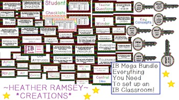 IB PYP Mega Bundle NEON THEME - Everything you need to have an IB classroom!