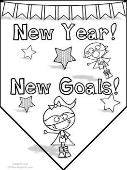 IB PYP New Year New Goals for Little Kids