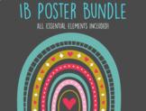 IB PYP POSTER BUNDLE- Pastel hand drawn rainbows, hearts, moons, sunshine
